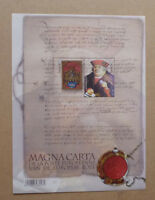 2016 BELGIUM MAGNA CARTA 2 STAMP MINI SHEET MINT