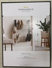 Threshold Shoe Rack Wall Mount Space Saver Wire Baskets Rustic Organize NEW