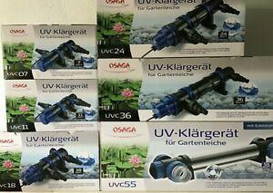 Osaga UVC Lampe Gerät Teichklärer, Röhre 5 7 11 18 24 36 55 75 Watt Röhre