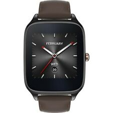 Asus ZenWatch 2 Smart watch 49mm Stainless Steel Gunmetal/Brown Leather WI501Q