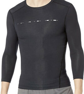 Under Armour Athlete Recovery Mens Compression Shirt Black 3/4 Sleeve XXL