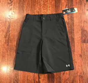 Under Armour Boys UA Standard Shorts Size 16 New With Tags Black 27165020 01