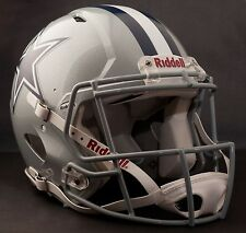 **GAMEDAY-AUTHENTICATED** Dallas Cowboys NFL Riddell Speed Football Helmet