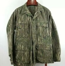 Vintage Real Tree Made in USA Camoflauge Atlantco Jacket Men's Medium Tall 1980s