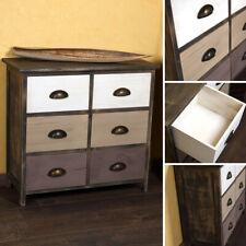 Kommode Schrank Regal Sideboard Küchenschrank Holz Vintage Stil braun NEU