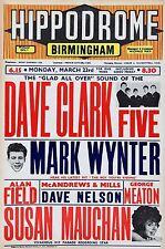 "Dave Clark Five Birmingham 16"" x 12"" Photo Repro Concert Poster"