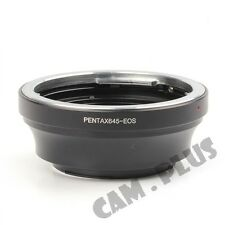 2nd AF Confirm Pentax 645 PK645 Lens to Canon EOS EF Mount Adapter 7D 550D 1100D