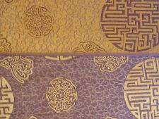 "70 % Seide ""Glück"" lila/beige 110 cm breit Meterware"