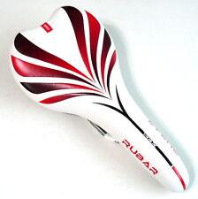 gobike88 RUBAR 1319 Rainbow Road MTB Bike Saddle, White/Red, N10