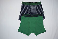 NWT NAUTICA 2pc  BOY boxer briefs underwear size XS 4/5 green, black