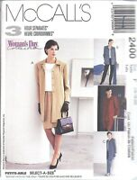 2400 UNCUT McCalls Sewing Pattern Misses Unlined Jacket Top Pull on Pants Skirt