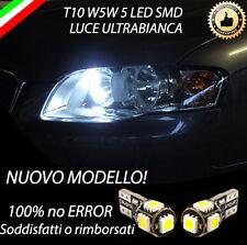 COPPIA LUCI DI POSIZIONE LED PER AUDI A4 B7 8E T10 W5W CANBUS 100% NO ERRORE