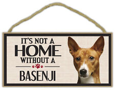 Wood Sign: It's Not A Home Without A Basenji | Dogs, Gifts, Decorations