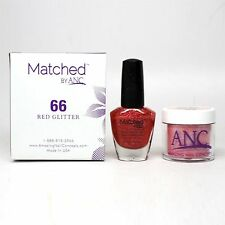ANC Amazing Nail Concepts Matched kit # 66 Red Glitter