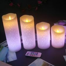 Wireless Remote Led Candle Made By Paraffin Wax Christmas Parties At House Decor