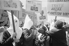 KKK & AFRICAN AMERICANS GOLDWATER CAMPAIGN 8x12 SILVER HALIDE PHOTO PRINT