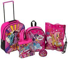 My Little Pony 5 Piece Travel Luggage Set Backpack Wheel Trolley Purse Bag