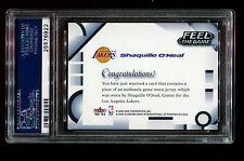 2000 FLEER SHAQUILLE O'NEAL FEEL THE GAME PSA 8.5