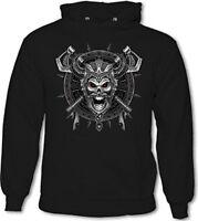 Viking Skull Shield - Mens Funny Hoodie Ragnar TV Show Programme Skull Axe