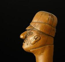 Canne à pommeau tête de soldat c1900 cane soldier head pommel head art populaire