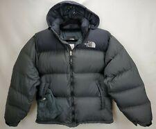 Vintage The North Face Mens Large Nuptse 700 Down Jacket Coat Gray Hood Packable