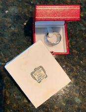 CARTIER 18k White Gold Trinity Rolling Ring  size 9.5 or Cartier 61
