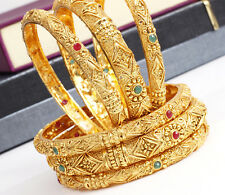 Indian Bollywood Ethnic 6Pc Kada Gold Tone Bangle Bracelet Set Bridal Jewelry
