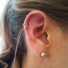 Surgical Steel Small Gem Crystal Screw Nose Stud Ring Body Piercing UK Seller