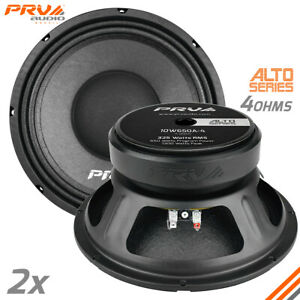 "2x PRV Audio 10W650A-4 Midbass ALTO Car Audio 10"" Speakers 4 Ohm 10A PRO 1300W"