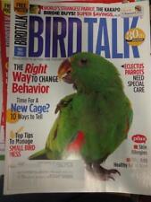 *BIRD TALK MAGAZINE May 12 Eclectus Parrot Change Bad Behavior New Cage Kakapo