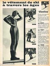 PUBLICITE ADVERTISING 105  1968  ELASTISS  vetements de ski