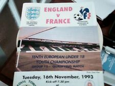 93/94 ENGLAND U18 V FRANCE U18 EUROPEAN YOUTH CHAMPIONSHIP AT YEOVIL 16/11/93