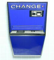 Arcade Change Machine - BLUE Enamel Lapel Pin - Retro Games 1980's Tokens