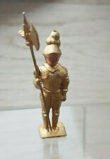 Vintage John Hill lead golden Knight with movable arm figure