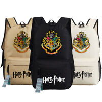 Harry Potter College Badge Women Men Backpack Travel Shoulder School Student Bag