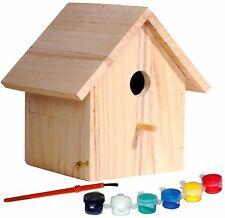 FSC® Nistkasten Vogelhaus für Kinder Malset Bausatz Bastelset Bausatz Futterhaus