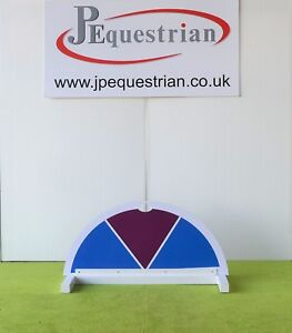 Blue and Purple Half Moon Segment Show jump Filler-For Showjumping