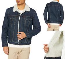 Levi'S Strauss Men'S Sherpa с подкладкой хлопок джинсовая куртка дальнобойщика 163650115