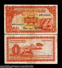 SOUTH WEST AFRICA 1 POUND P8 15-6-1959 RARE PAPER MONEY STANDARD BANK SWA NOTE