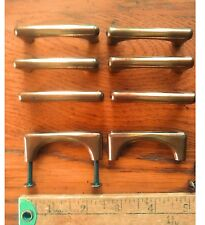 Lot of 8 Vintage Drawer Pulls Furniture Pulls Brass and Copper Color Screws