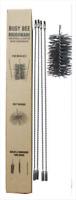 "CFC006 12' Flue Brush Kit with 8"" dia Polypropylene Brush Head; Black"