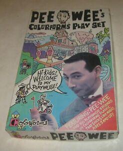 1987 PEE WEE HERMAN COLORFORMS PEE WEE'S PLAYHOUSE PLAYSET IN BOX MISSING 1 pc