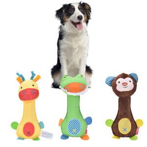 Pet Puppy Dog Cat Chew Squeaker Squeaky Sound Plush Cute Cartoon InteractiveT.$l