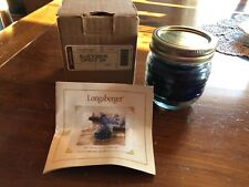 Longaberger Blue Ribbon Candle Jar in Berry scent - Nib with card