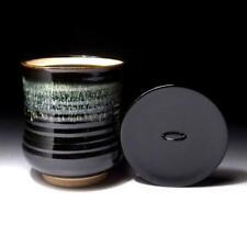 @RG39: Japanese Mizusashi, Pottery Water Container, Seto ware by Kazufumi Wada