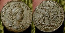 MORTWN Theodosius I AE2 383AD GLORIA ROMANORVM Emperor in Ship w Captive Scarce!