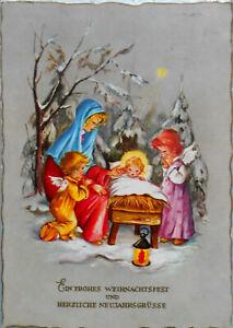 FABIG DISTLING - ENGEL beten bei Mutter u. Christkind an WEIHNACHTEN, Krüger -