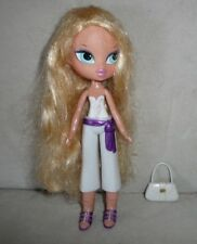Bratz Kidz Glam Doll Cloe Glitter Doll & Easy Snap on Fashion Accessories