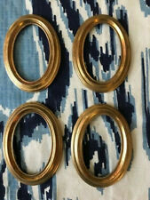 New ListingSet of Four Antique Brass Oval Picture Frames