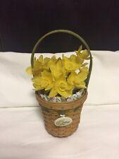 Longaberger May Series Miniature Daffodil Basket Combo